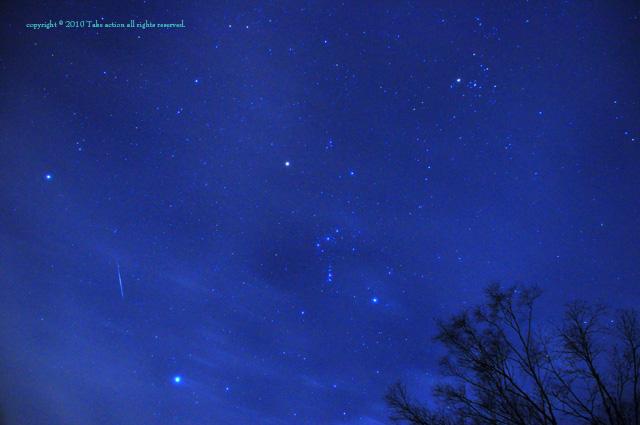2010年12月14日ふたご座流星群2
