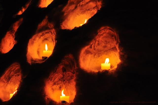 2011年雪あかり灯火1