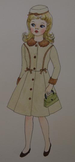 タミーちゃんの絵(ウインターコート)