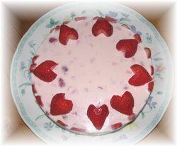 いちごレアチーズケーキ1