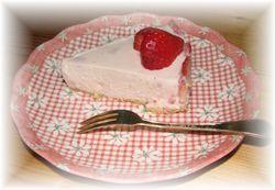 いちごレアチーズケーキ2