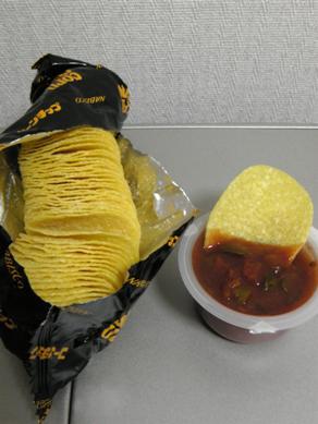コーンチップ&サルサソース