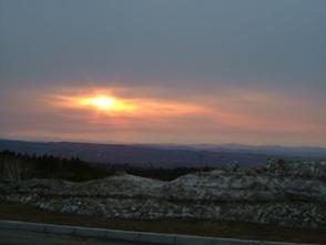 美幌峠からみた夕日