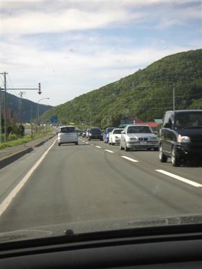 国道38号線の大渋滞