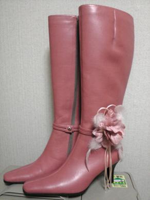 ピンクのブーツは、挑戦色!