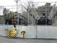 塗装中の機関車たち