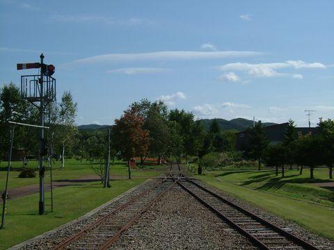 湧別と網走を結んでいた旧国鉄の湧網線。