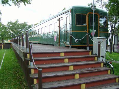 ルゴーサ・エクスプレス。北海道にはこういった列車の宿がいくつかある。