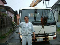 宿の前にベタ付け。おじさんはじめ、北海道はホント良い人が多い。