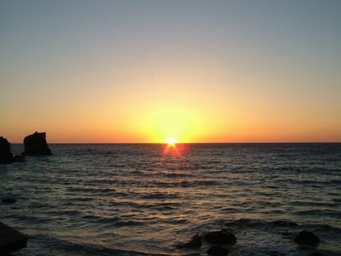最北の島で見た夕陽。