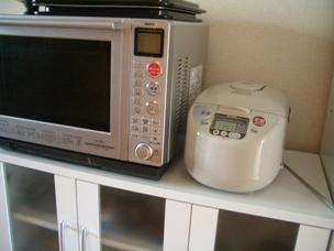 レンジと炊飯器