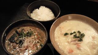 坦々麺&シチュー