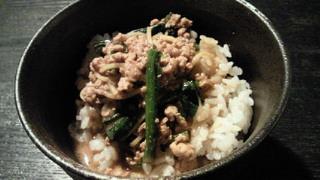 坦々麺からの肉みそご飯
