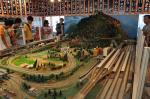 1階には鉄道模型が。