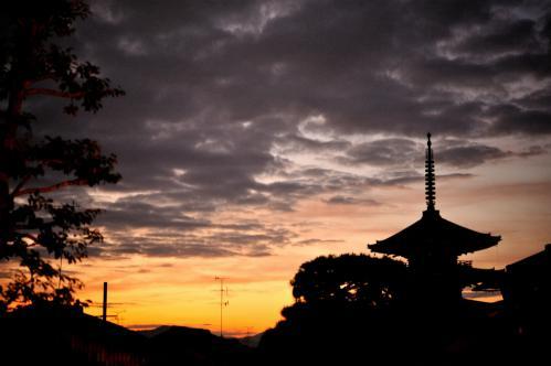 沈み行く夕日s