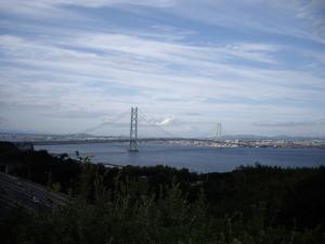 淡路SAからの明石海峡大橋