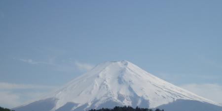 山梨側より富士山を望む