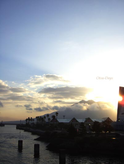 桜島雲と光