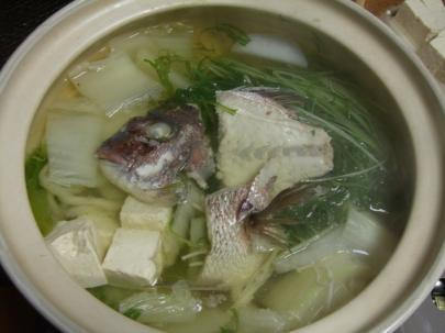 鯛のあら鍋