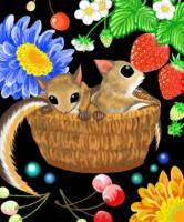 花と果物とモモンガ
