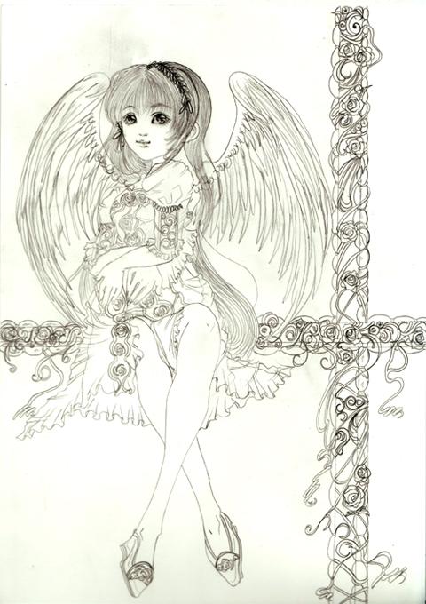 薔薇に包まれた天使