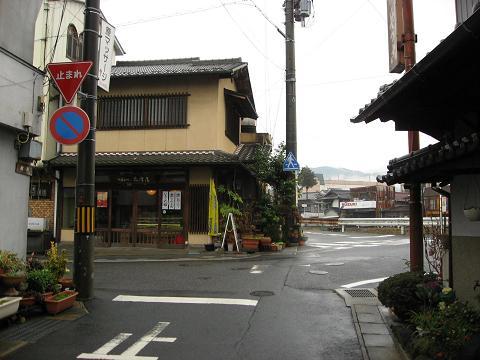 大井宿京方外れの枡形