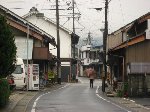 旧中野村の町並み