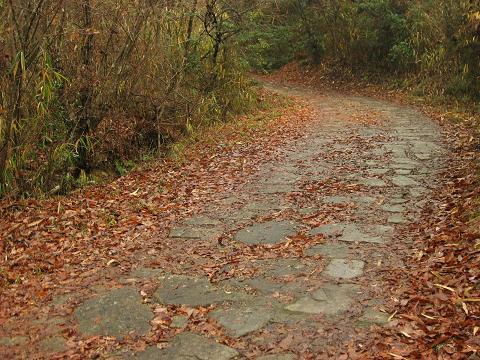 乱れ坂の石畳