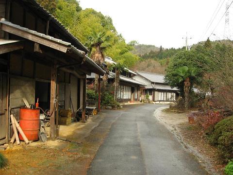 馬茶屋跡の集落