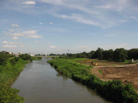 中川と権現堂堤