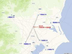 関東の国分寺配置図
