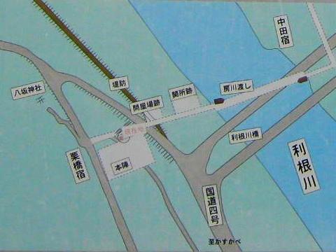栗橋関所付近の見取図