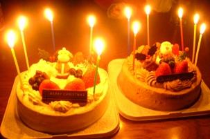クリスマスケーキ・・・どうぞ!