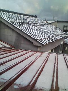 今年のはちゅ(初)雪^^