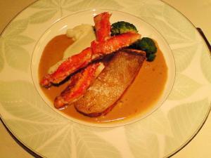 アブラ蟹と大助(キングサーモン)のアンサンブル