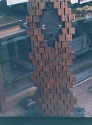 木製の看板猫