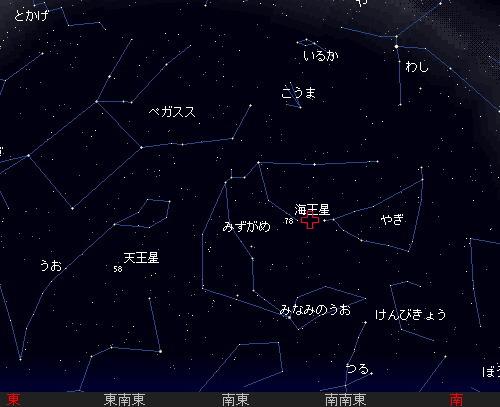 2011 7 28 みずがめ座δ南流星群星図1