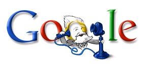 Googleのロゴ:3月3日グラハム・ベルの誕生日