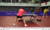 中国代表男子選手の練習風景(世界卓球2011)