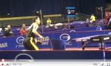 ティモボルの練習を横から観察(世界卓球)