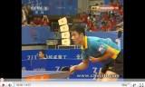 中国卓球 超級リーグ2011 閻安VS王励勤1