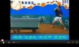 馬琳の多球練習:回り込みフットワーク練習