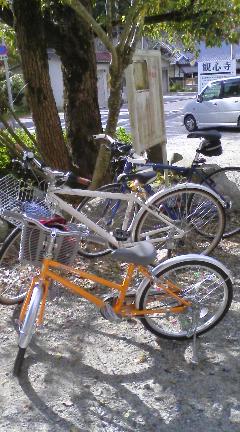 3台の自転車