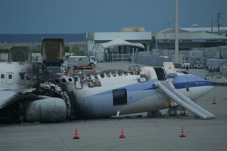 中華航空炎上事故機