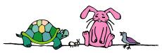ウサギとハトとカメ-(小)