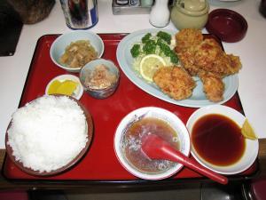 福龍の《鶏から揚げ定食(ご飯大盛)》¥800