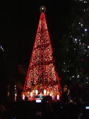 ユニバーサルスタジオ・ジャパンのクリスマスツリー