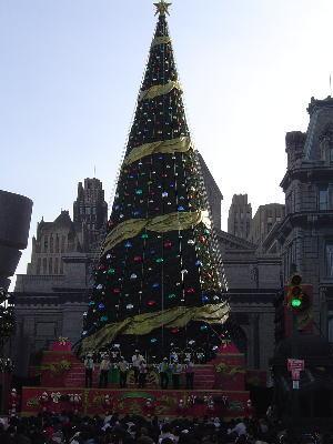 ユニバーサルスタジオ・ジャパン(USJ)のクリスマスツリー