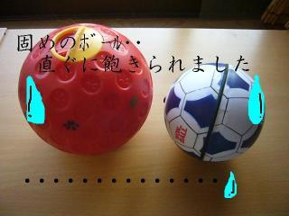 固めのボール