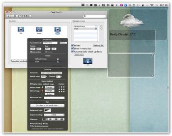 GeekToolを使ってYahoo Weatherのアイコンをデスクトップに表示